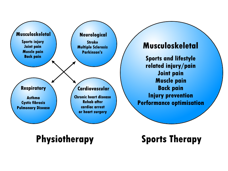 Sports therapy vs Physiotherapy