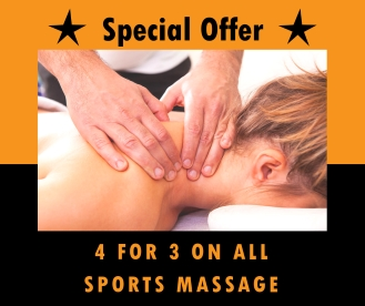 4-for-3 on all sports massage sessions
