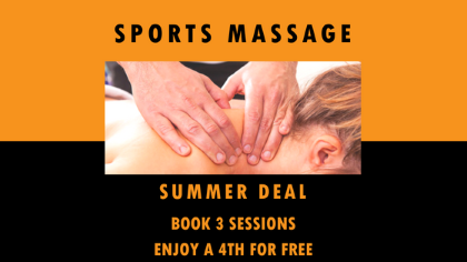 Sports massage summer deal - 4 sessions for the price of 3